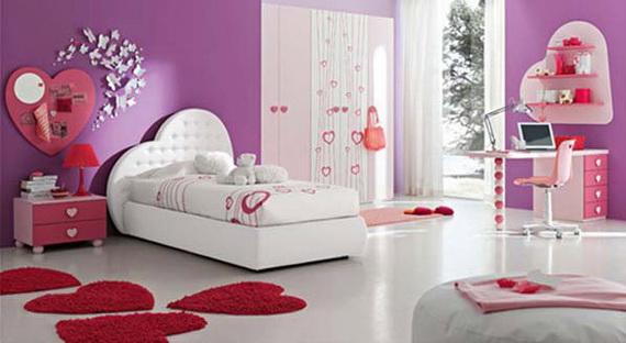 Heart Themed Interior Decor Kids Room Ideas_09