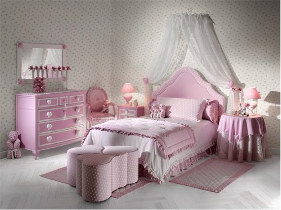 Heart Themed Interior Decor Kids Room Ideas_1
