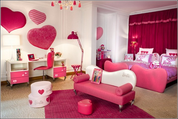 Heart Themed Interior Decor Kids Room Ideas_12