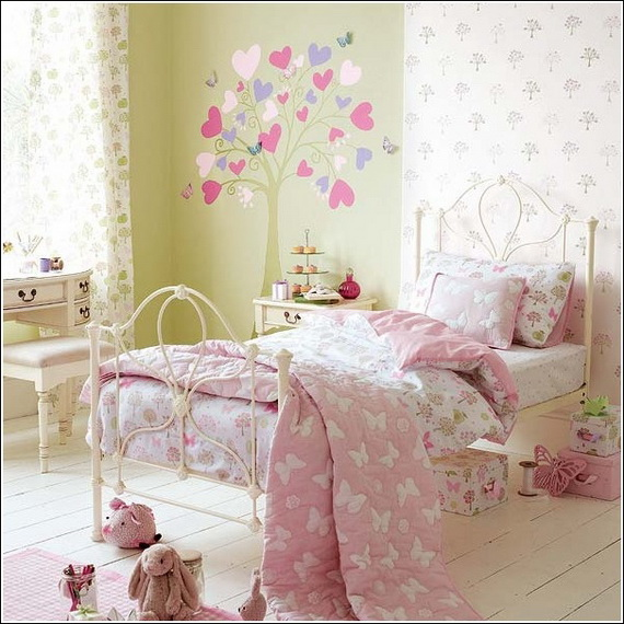 Heart Themed Interior Decor Kids Room Ideas_15