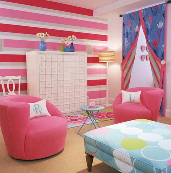 Heart Themed Interior Decor Kids Room Ideas_16