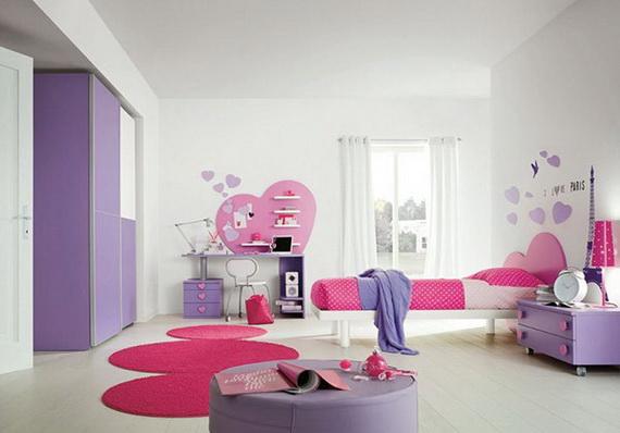 Heart Themed Interior Decor Kids Room Ideas_17