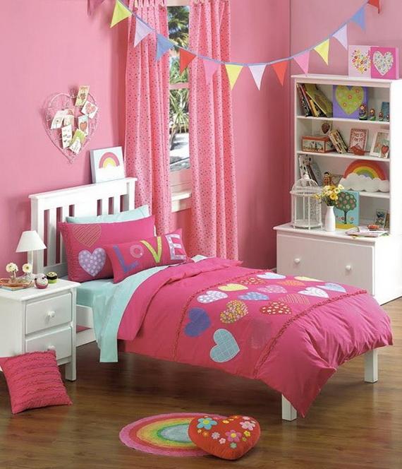 Heart Themed Interior Decor Kids Room Ideas_18
