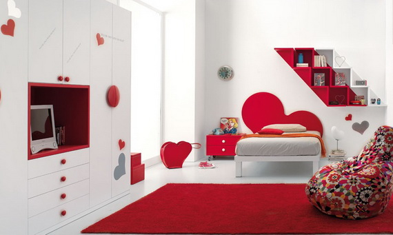Heart Themed Interior Decor Kids Room Ideas_19