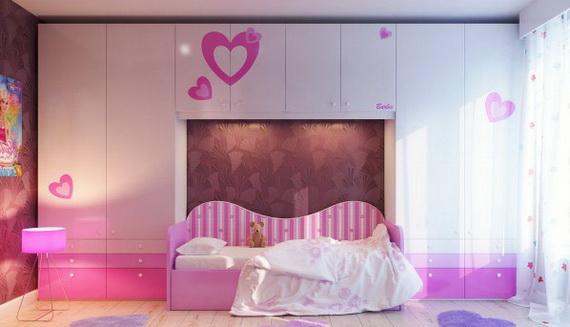 Heart Themed Interior Decor Kids Room Ideas_23