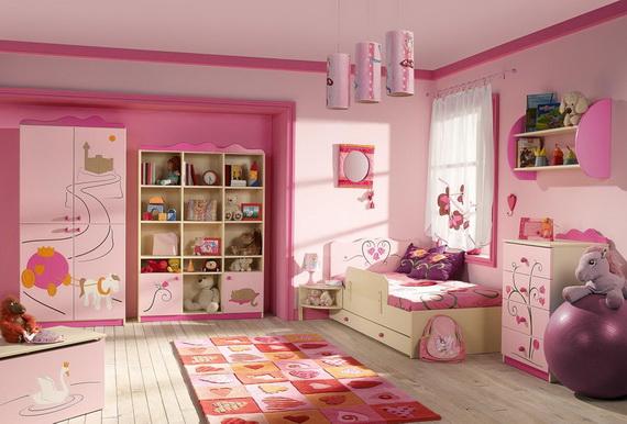 Heart Themed Interior Decor Kids Room Ideas_28