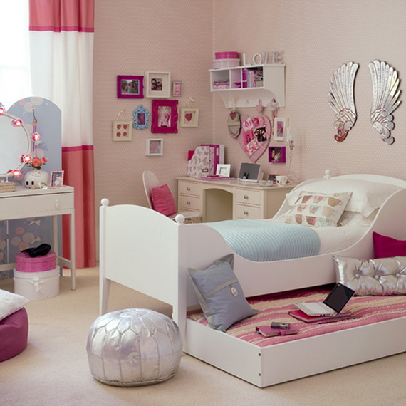 Heart Themed Interior Decor Kids Room Ideas_29