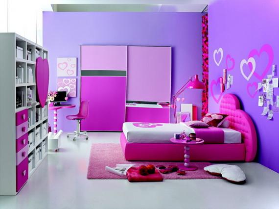 Heart Themed Interior Decor Kids Room Ideas_30