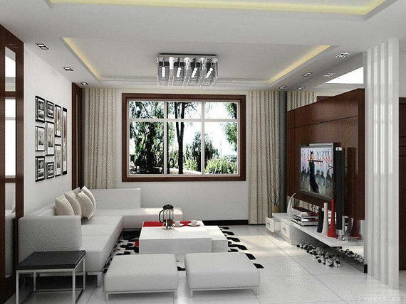 Luxury Interior Design White Walls and High Technology