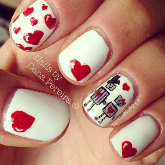 70 Lovely Valentine's Day Inspired Nail Art Ideas_04