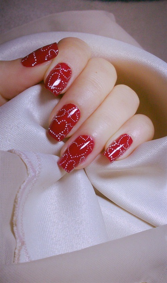 70 Lovely Valentine's Day Inspired Nail Art Ideas_09