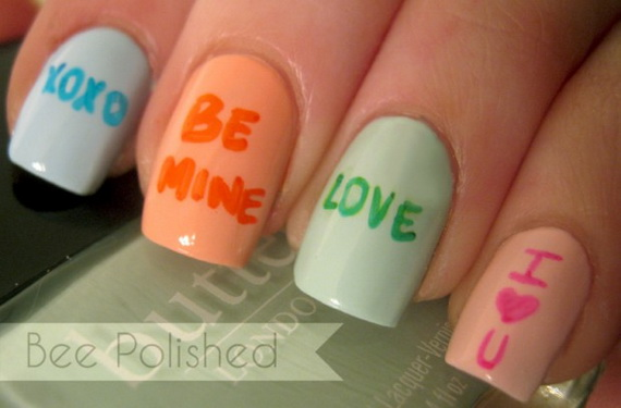 70 Lovely Valentine's Day Inspired Nail Art Ideas_14