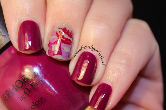 70 Lovely Valentine's Day Inspired Nail Art Ideas_17