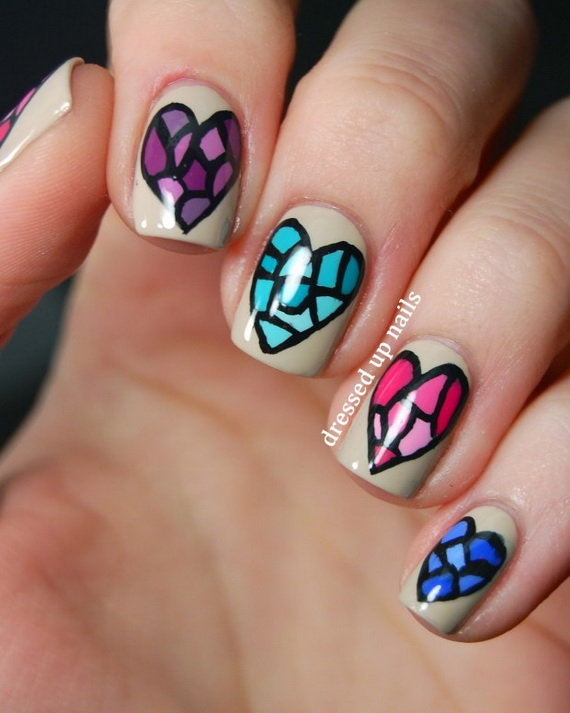 70 Lovely Valentine's Day Inspired Nail Art Ideas_20
