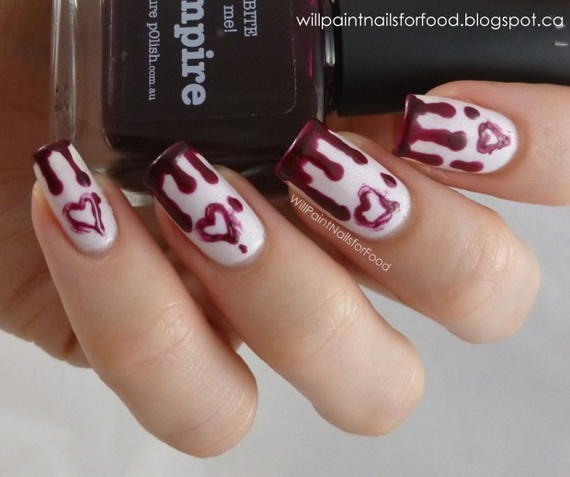 70 Lovely Valentine's Day Inspired Nail Art Ideas_24