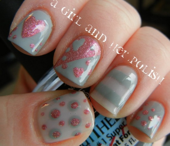 70 Lovely Valentine's Day Inspired Nail Art Ideas_30