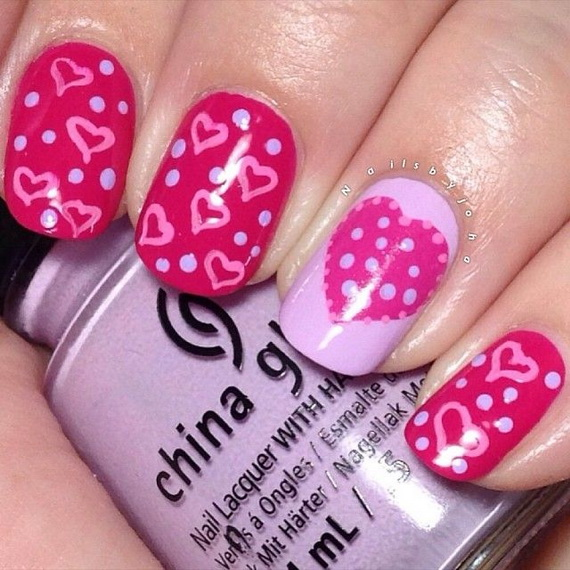 70 Lovely Valentine's Day Inspired Nail Art Ideas_42