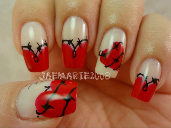 70 Lovely Valentine's Day Inspired Nail Art Ideas_46
