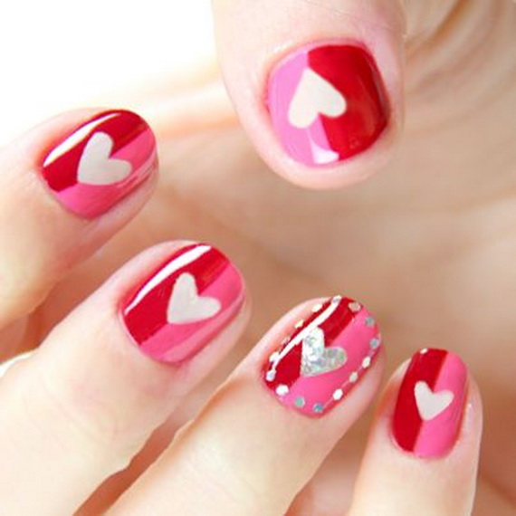 70 Lovely Valentine's Day Inspired Nail Art Ideas_48