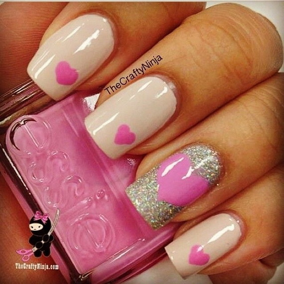 70 Lovely Valentine's Day Inspired Nail Art Ideas_58