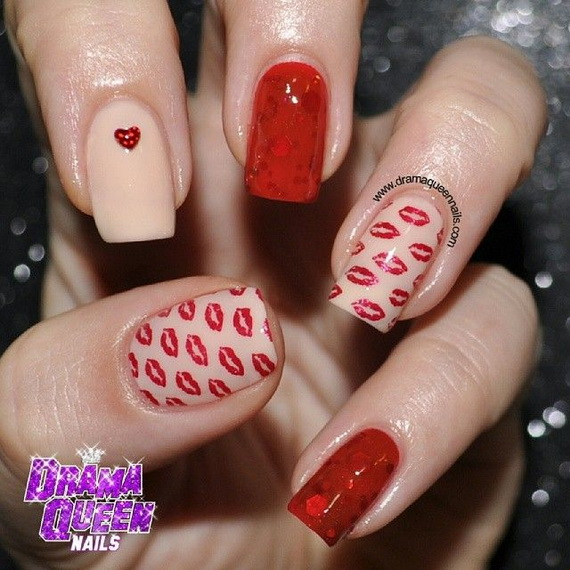 70 Lovely Valentine's Day Inspired Nail Art Ideas_59