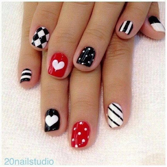 70 Lovely Valentine's Day Inspired Nail Art Ideas_60