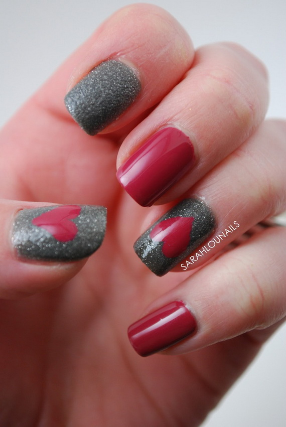 70 Lovely Valentine's Day Inspired Nail Art Ideas_63