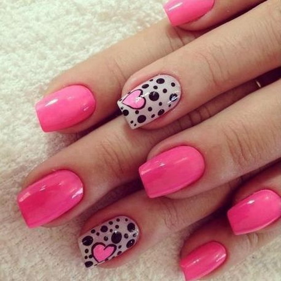70 Lovely Valentine's Day Inspired Nail Art Ideas_64