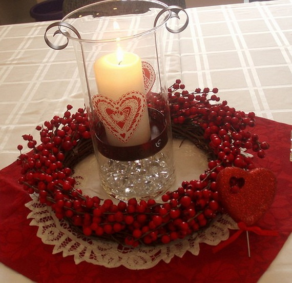 Amazing Romantic Table Centerpiece Decorating Ideas for Valentine's Day _03