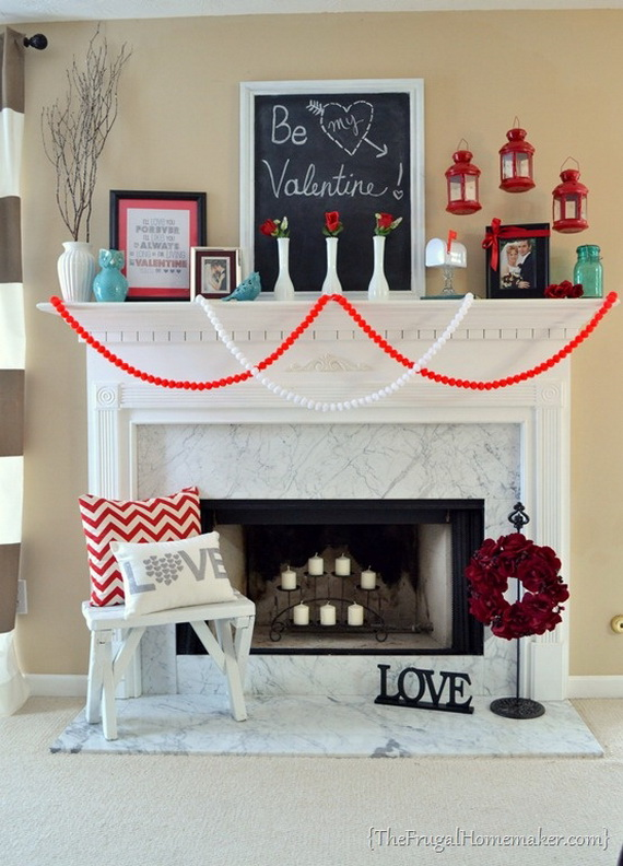 Cool Valentine's Day Mantel Décor Ideas