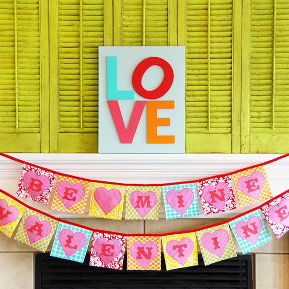 Cool Valentine's Day Mantel Décor Ideas_05