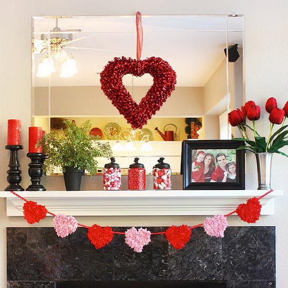 Cool Valentine's Day Mantel Décor Ideas_09