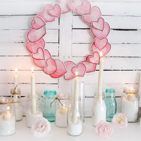 Cool Valentine's Day Mantel Décor Ideas_13