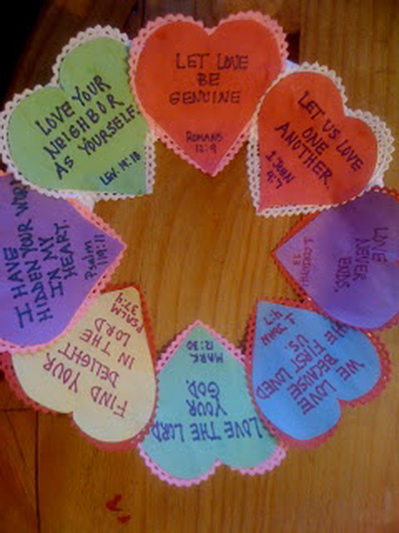 love your neighbor craft ideas cool s day wreath ideas for 2014 family 6897