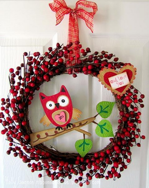 Cool Valentine's Day Wreath Ideas for 2014_23