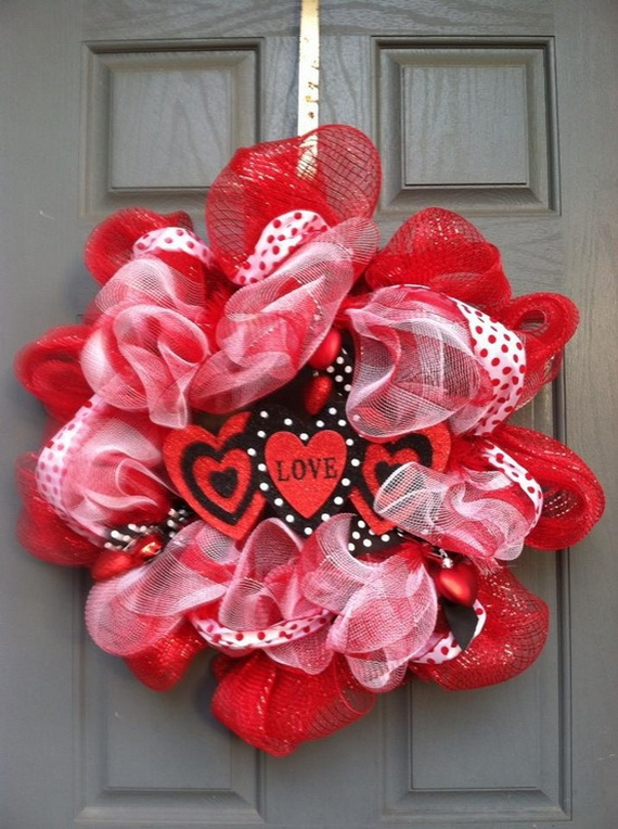 Cool Valentine's Day Wreath Ideas for 2014_31