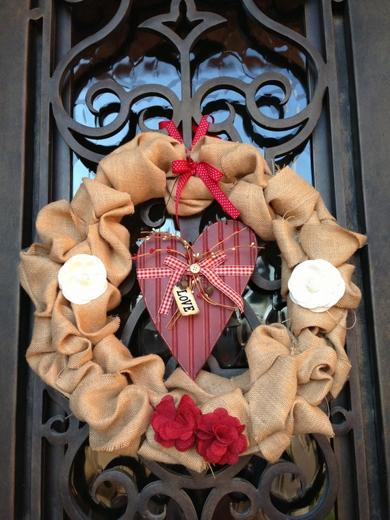 Cool Valentine's Day Wreath Ideas for 2014_32