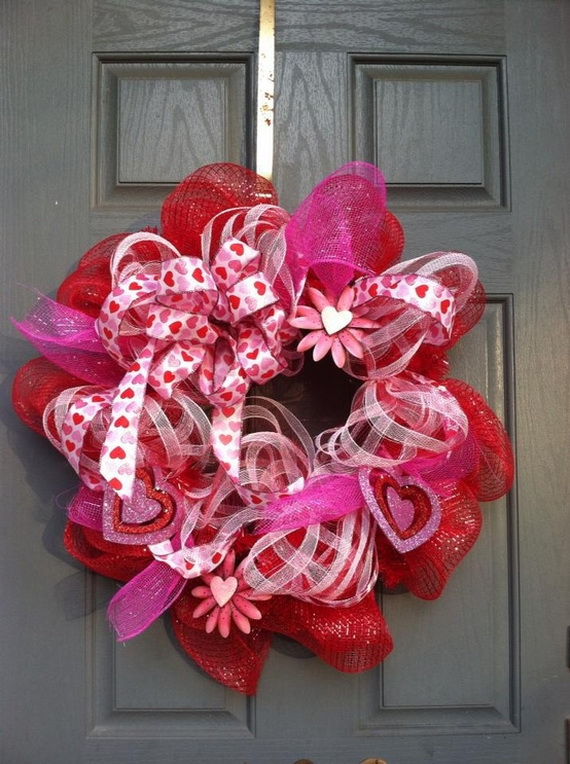 Cool Valentine's Day Wreath Ideas for 2014_44