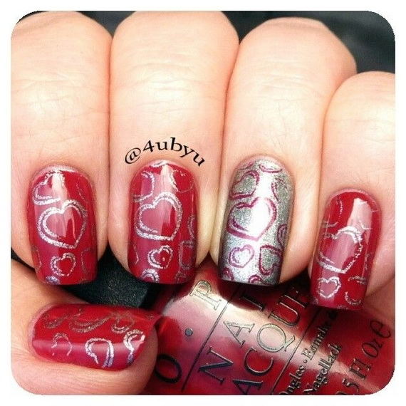 Creative Nail Art Designs for Valentine's Day 2014__59