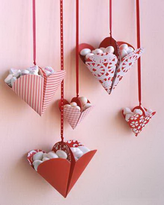 Hearts decorations-Homemade gift ideas Valentine's Day _43