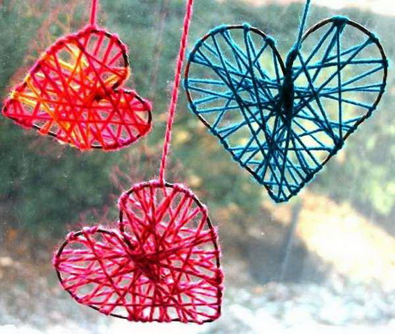 Hearts decorations-Homemade gift ideas Valentine's Day _46
