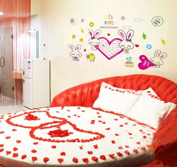 Valentine's Day Bedroom Decoration Ideas for Your Perfect Romantic Scene_45