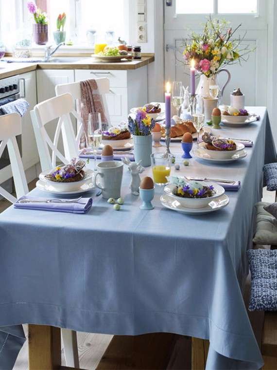 60 Creative Easy DIY Tablescapes Ideas for Easter family