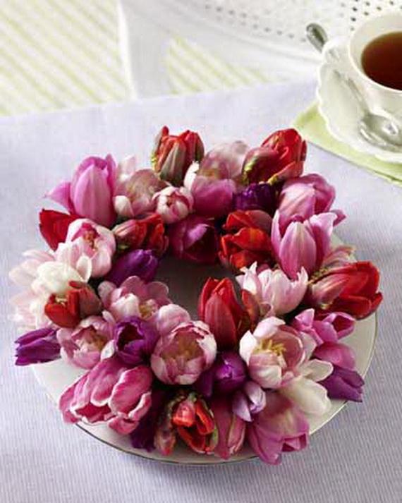 Tulpen: Kranz aus Tulpen