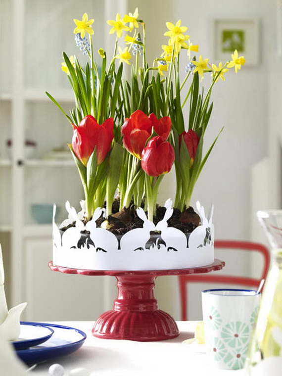 Spring lights on the Easter table _52