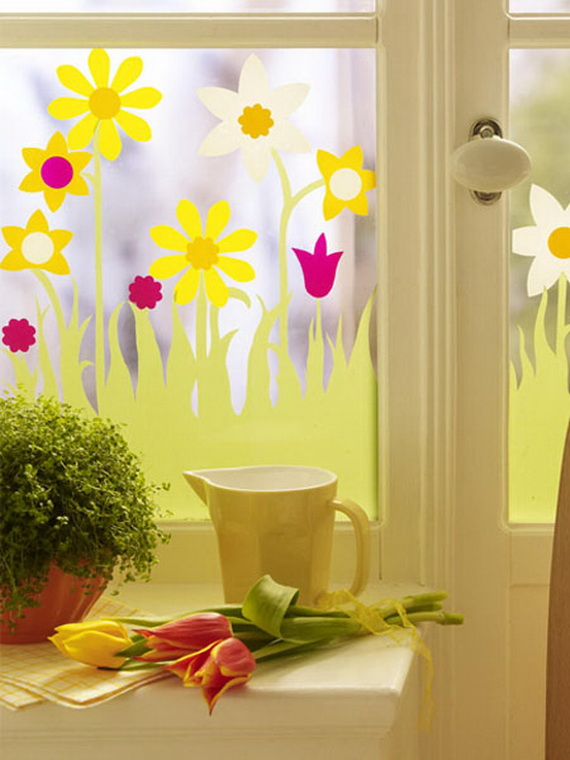 50 Elegant Easter Window Decoration (19)
