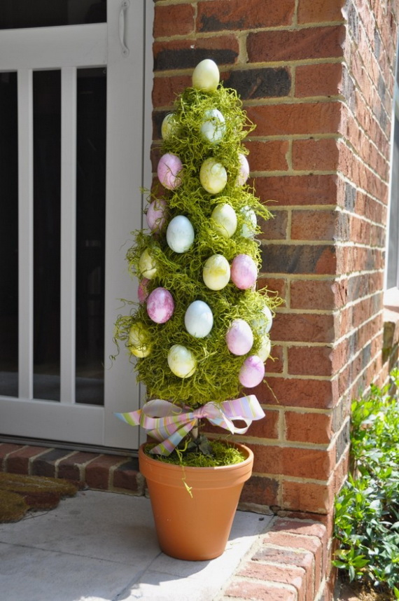 70 Awesome Outdoor Easter Decorations For A Special Holiday_08