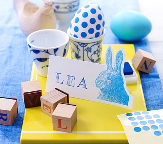 Creative Easter Ideas In Blue And White_25