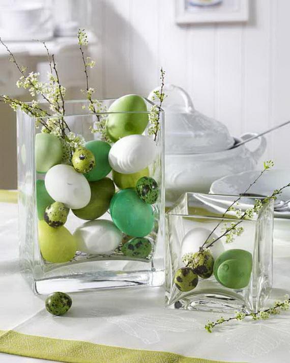 Gr?n/Wei§: Eier im Glas