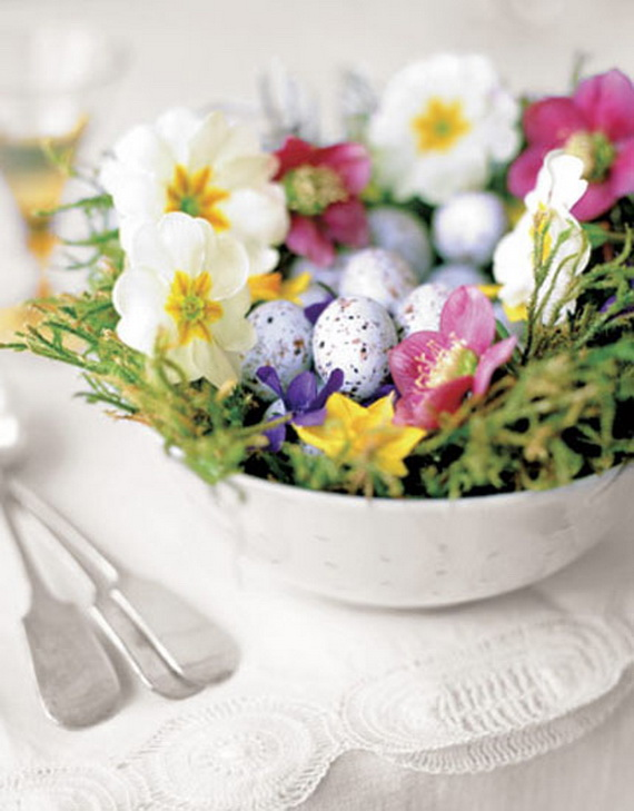 Easy Easter Centerpieces And Table Settings For Spring Holiday_35